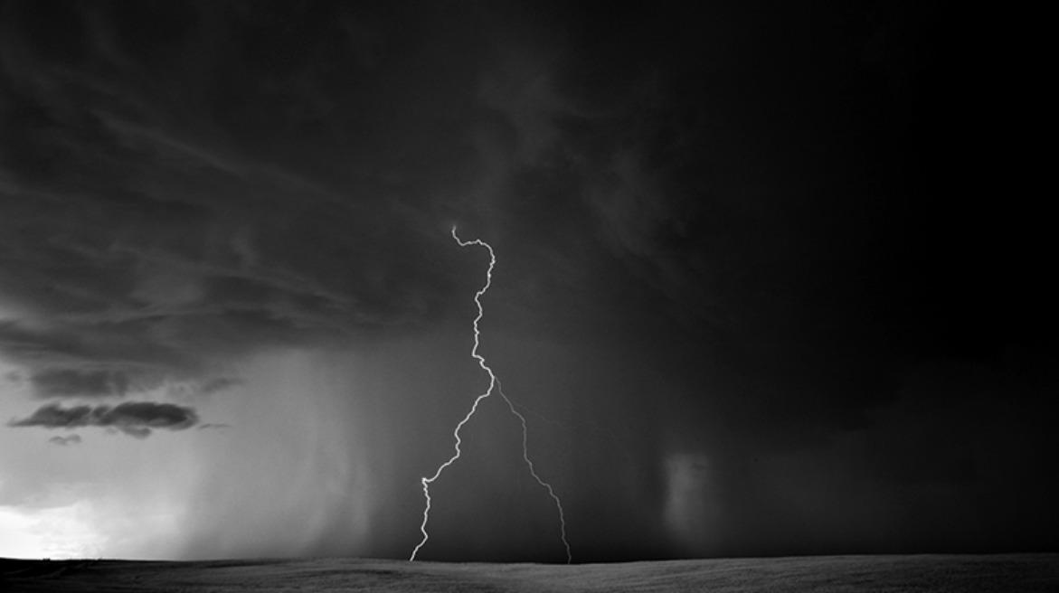 Lightning photography black and white