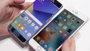 Битва флагманов: Samsung Galaxy Note 7 против iPhone 6s Plus (ФОТО)