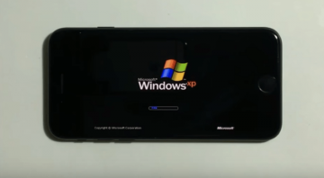 Windows XP запустили на iPhone 7 (ВИДЕО)