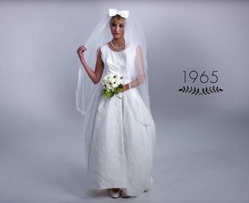 100 лет эволюции свадебного платья (ВИДЕО)