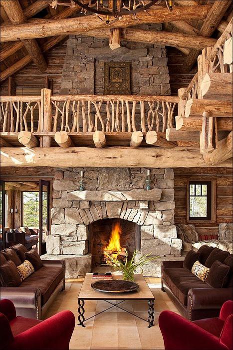Роскошь среди горных склонов: деревянный особняк в рустикальном стиле (ФОТО)