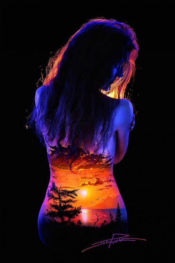 Фантастические светящиеся пейзажи на телах (ФОТО)