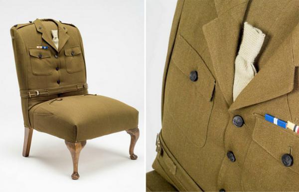 Пальто и пиджаки в качестве обивки мебели: необычные идеи от британской студии дизайна