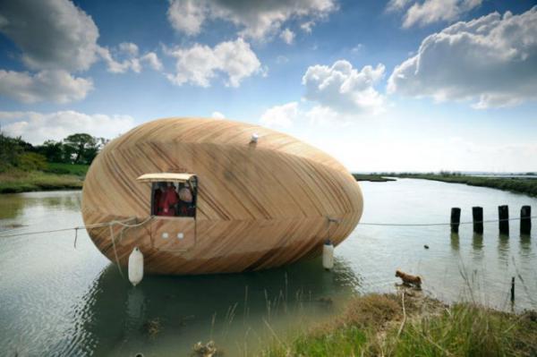 Плавающий дом-яйцо - релакс в гармонии с природой (ФОТО)