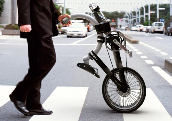 Оригинальный складной велосипед с овальной рамой (ФОТО)