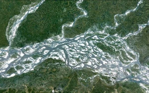 Чудеса природы: магия сплетения рек (ФОТО)