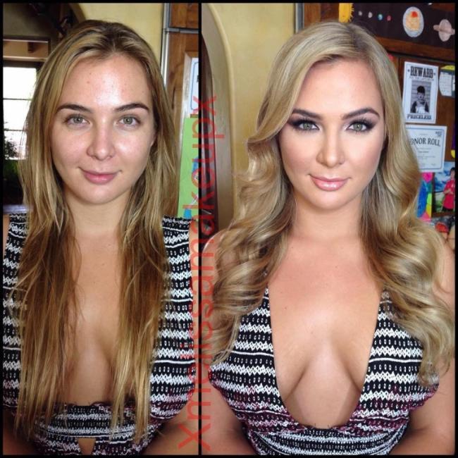 Великий обман: девушки до и после макияжа (ФОТО)