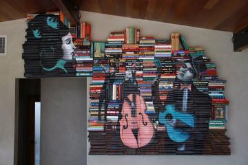 Художник-иллюстратор создает картины, используя старые книги (ФОТО)