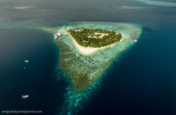 Мальдивы с высоты птичьего полета (ФОТО)