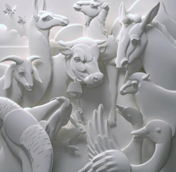 Неповторимые 3D-скульптуры из бумаги (ФОТО)
