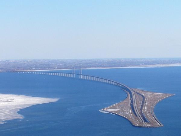 Эресуннский мост - шедевр инженерной мысли (ФОТО)