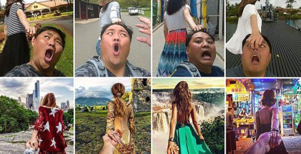 Семейная пара сняла пародию на серию фотографий «Следуй за мной» (ФОТО)