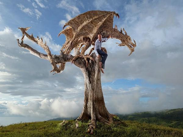 Экспрессивные деревянные скульптуры художника из Великобритании (ФОТО)