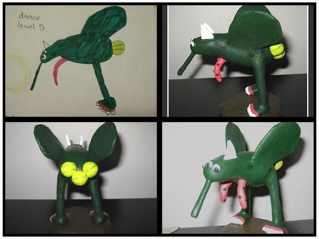 Художница превращает детские каракули в реальные статуэтки (ФОТО)