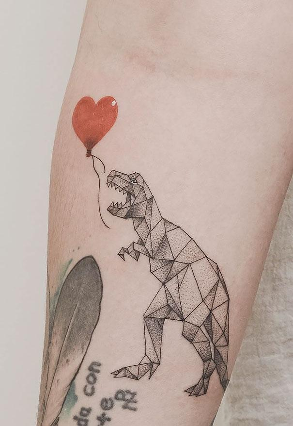 Потрясающие татуировки художника, в которых он совмещает геометрию и природные элементы (ФОТО)