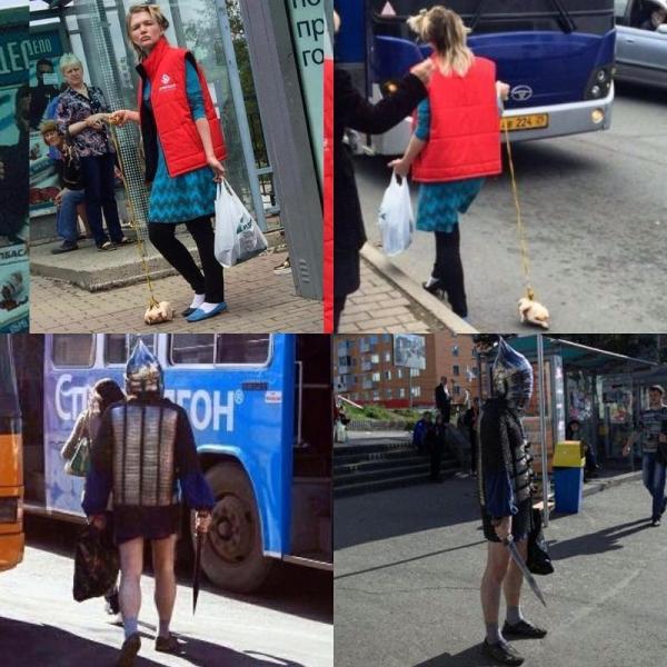 Каникулы в психушках? Странные люди выходят на улицы (ФОТО)