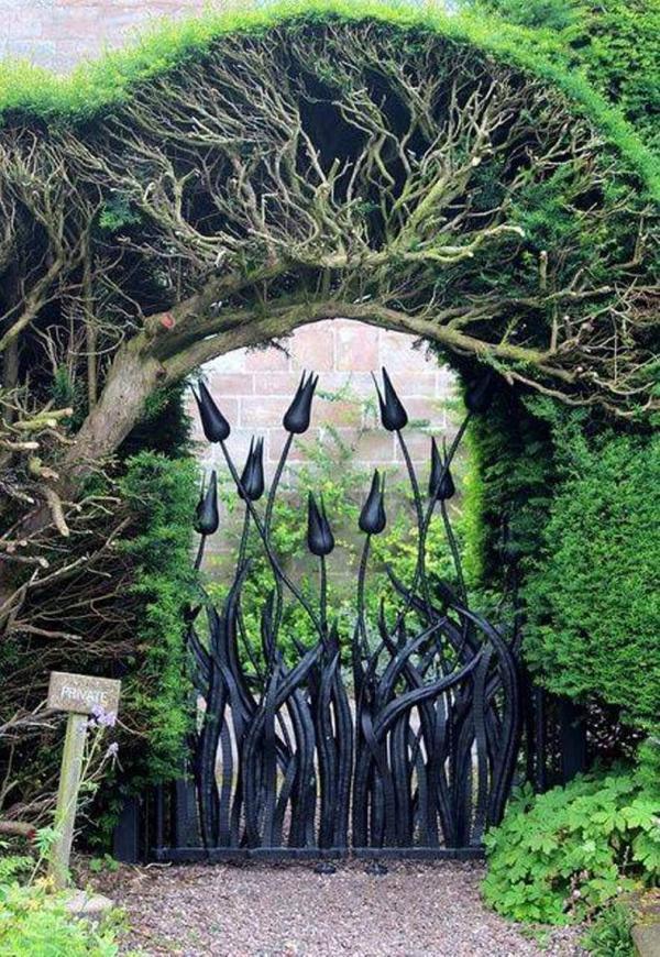 Великолепные идеи для оформления садовой калитки (ФОТО)