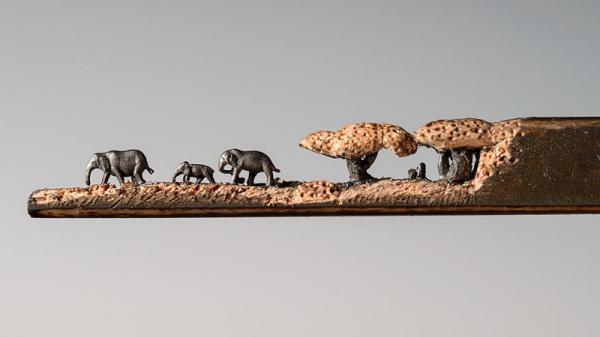 Скульптуры, вырезанные из обычных карандашей, которые поражают воображение (ФОТО)