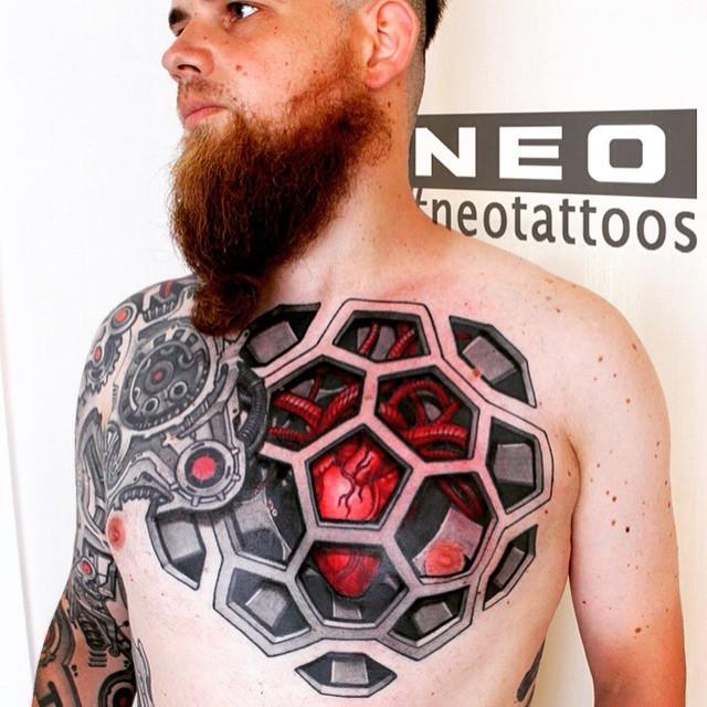 Сложные геометрические татуировки, на которое захочется посмотреть дважды (ФОТО)