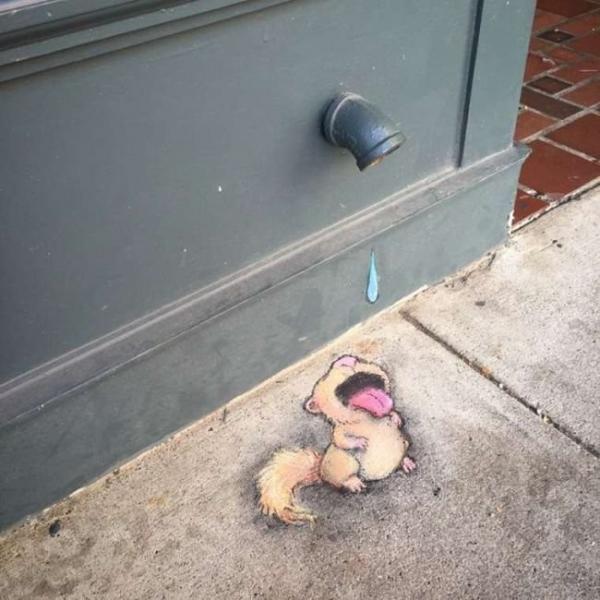 Забавные уличные рисунки, мимо которых невозможно пройти (ФОТО)