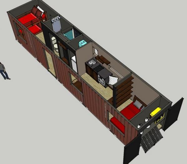 Компактное решение жилищного вопроса:  очередной дом-контейнер (ФОТО)