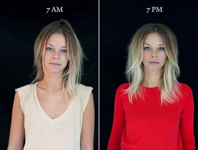 Фотограф показал, как может меняться внешность человека в течение дня (ФОТО)