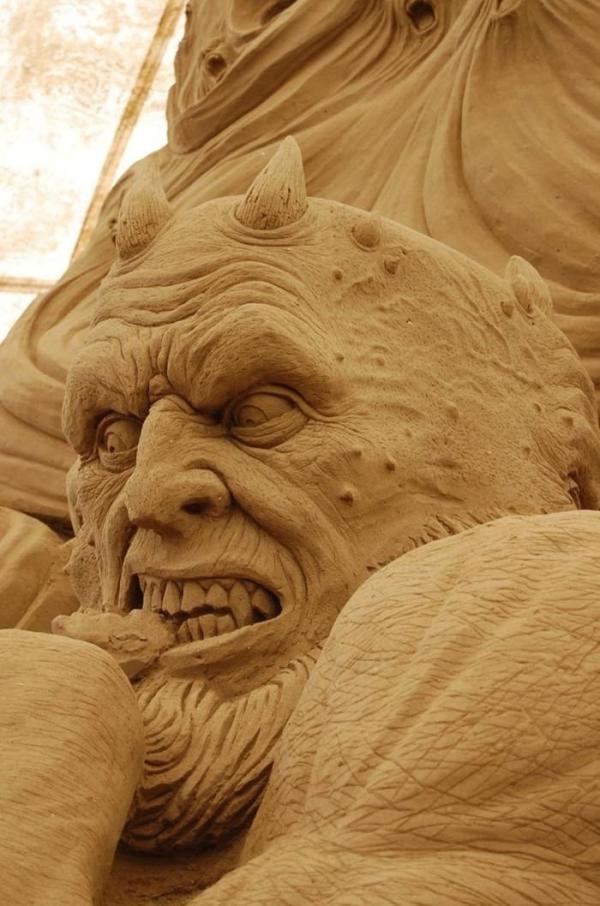 Как создаются песчаные скульптуры (ФОТО)