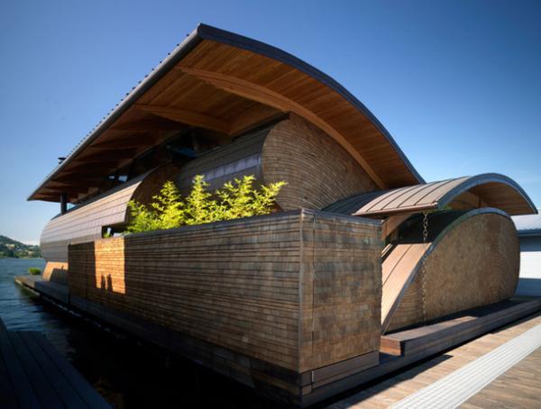 Жилище в форме ракушки: неординарный плавучий дом в США (ФОТО)