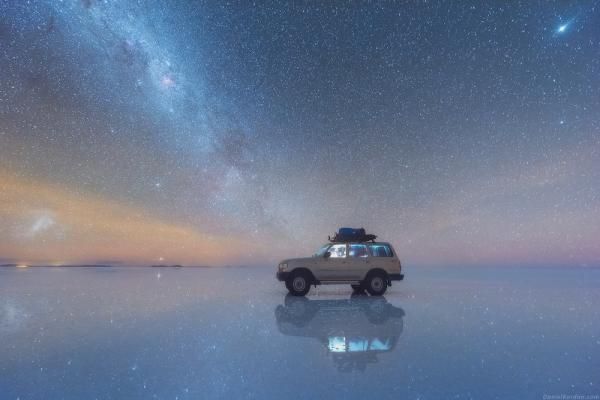 Радуга из звёзд: Млечный Путь над самым крупным солончаком в мире (ФОТО)