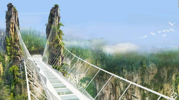 В Китае откроют самый длинный и высокий стеклянный мост (ФОТО)