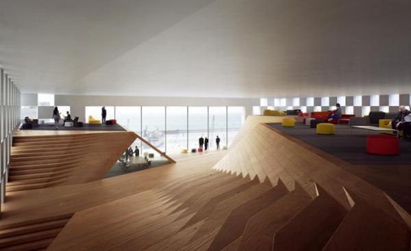 Яркий облик современного здания: банк с оригинальным и функциональным фасадом (ФОТО)