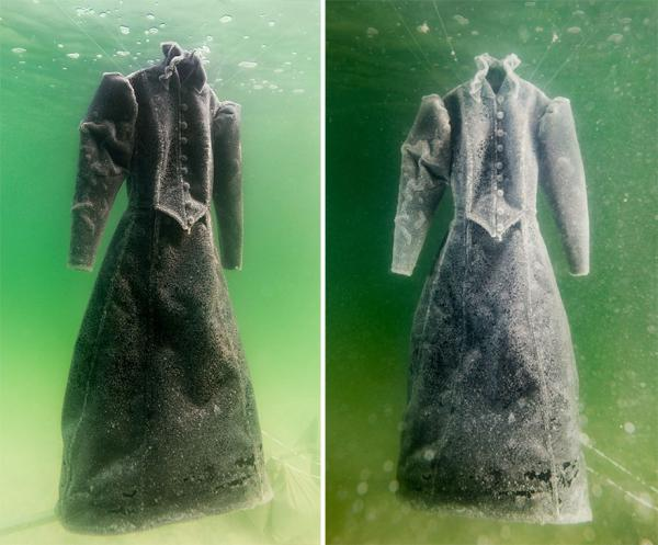 Соль и вода. Израильский художник создал уникальное платье (ФОТО)