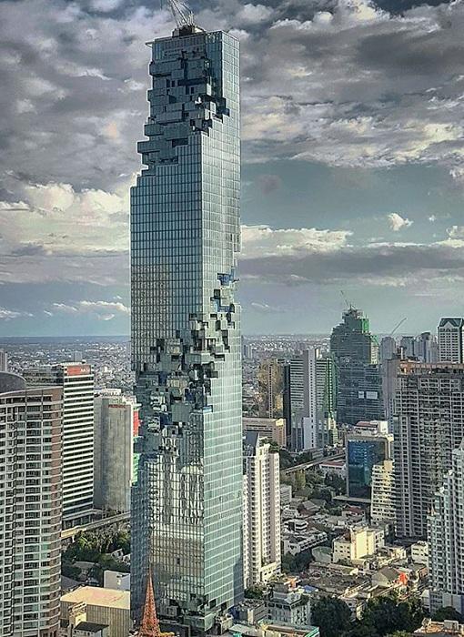 Небоскреб с пиксельным фасадом: оригинальное здание в Таиланде (ФОТО)