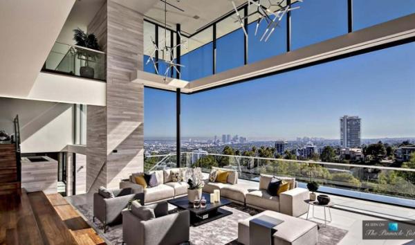 Элегантная роскошь: шикарный особняк на Голливудских холмах (ФОТО)
