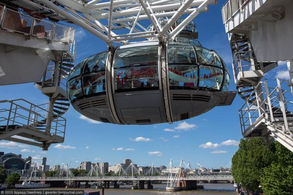 Лондонский глаз - самое высокое колесо обозрения в Европе  (ФОТО)