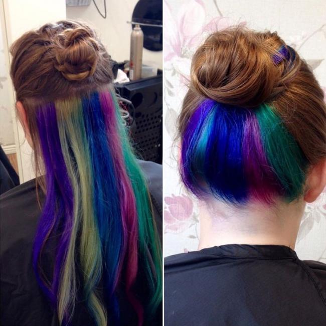 Скрытая радуга в волосах – новый тренд, который покорил весь мир (ФОТО)