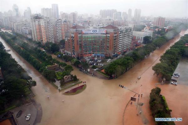 Тайфун «Меранти» обрушился на Китай (ФОТО)