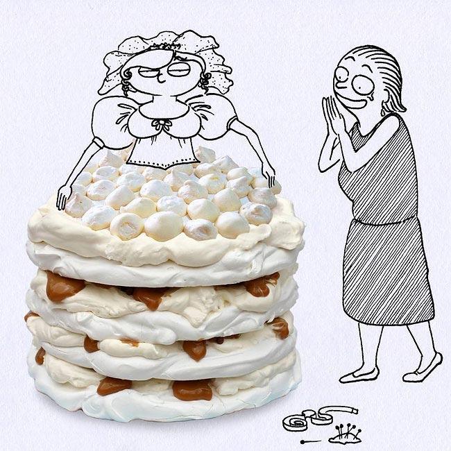Художник превращает еду в забавные рисунки (ФОТО)