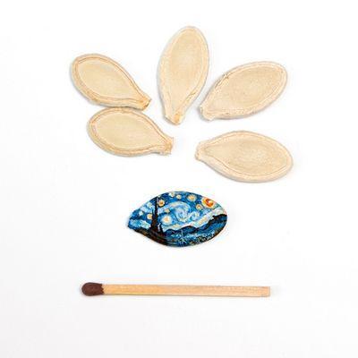 Ван Гог в миниатюре: мировые шедевры на семечках (ФОТО)