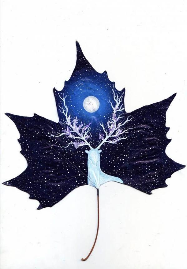 Рисунки на листьях: шедевры грузинских мастериц (ФОТО)