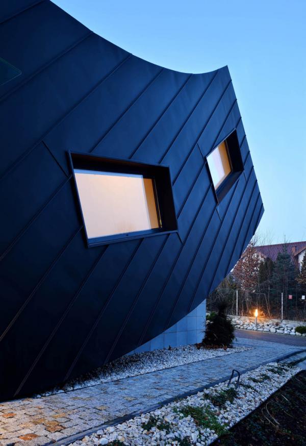 Грамотная организация пространства: необычный дом с изгибом в Польше (ФОТО)