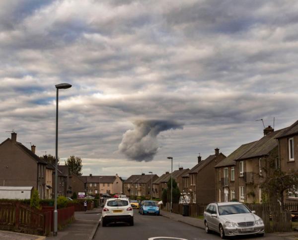 Настоящий кулак Бога сняли в небе Шотландии (ФОТО)