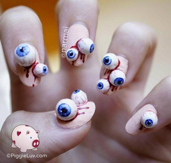 25 идей по-настоящему жуткого маникюра для Хэллоуина (ФОТО)
