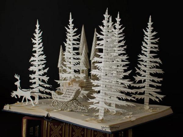 Испанская художница создает шедевры из старых книг (ФОТО)