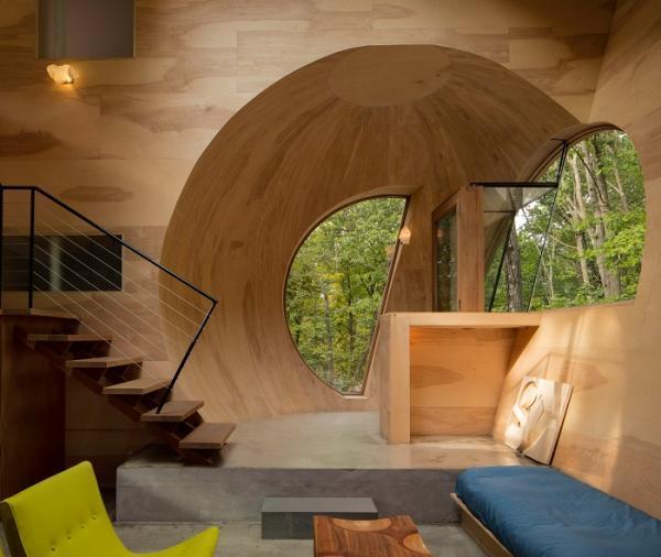 Простая геометрия в особом исполнении: дом с оригинальными формами  (ФОТО)