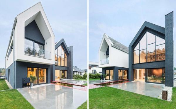 Современное переосмысление традиций: дом с остроконечными крышами (ФОТО)