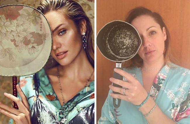 Женщина без комплексов умело пародирует звезд Instagram (ФОТО)