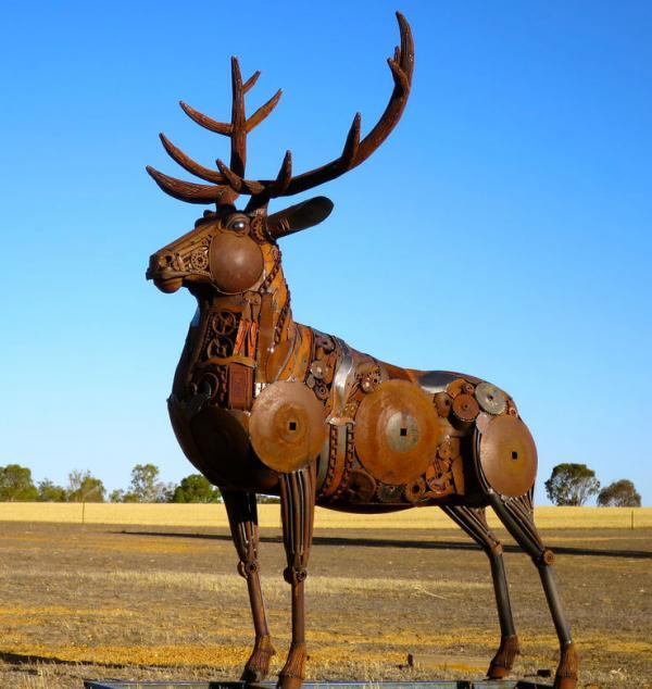 Шедевры из металлолома: удивительные скульптуры австралийского мастера (ФОТО)