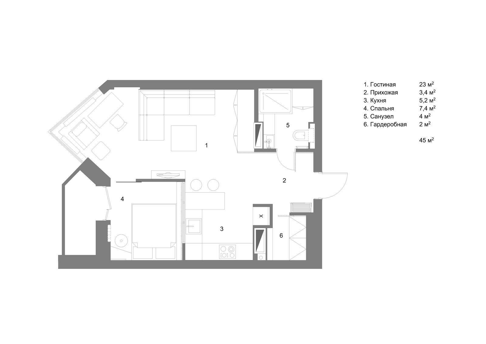 Смелый дизайн. Уютная квартира для небольшой семьи (ФОТО)