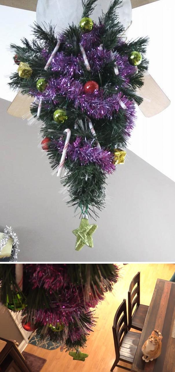 20 гениальных способов защитить новогодние ёлки от пушистых засранцев (ФОТО)